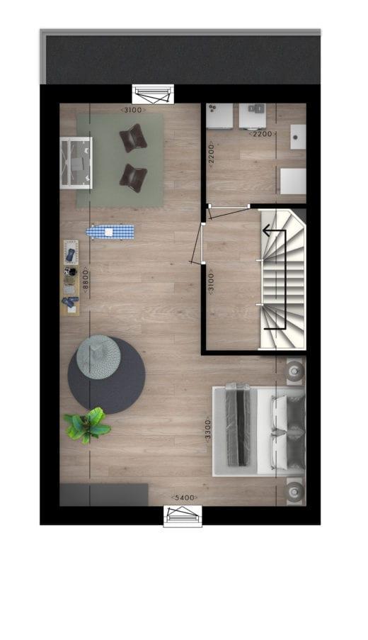 Stadsvilla's 2e verdieping